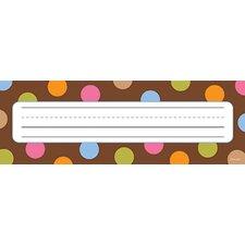 Dots On Chocolate Name Plates