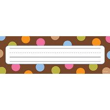 Dots On Chocolate Name Plates