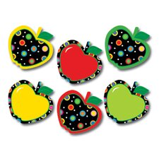 Dots On Black Apples Mini Cut Outs