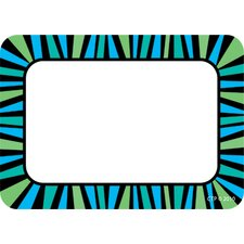 Blue And Green Stripes Name Tags