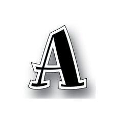 Black Spumoni Uppercase Letters