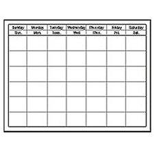 Chart Calendar Horizontal White