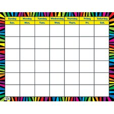 Rainbow Stripes Calendar Chart Pp