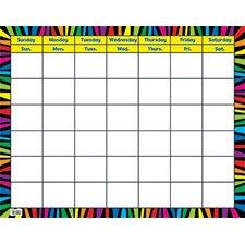 Rainbow Stripes Calendar Chart Pp