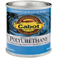 1/2 Pint Satin Interior Water-Borne Polyurethane 144-8082 HP