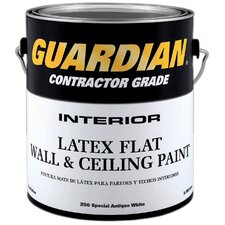 Contractor Grade 1 Gallon Flat Antique White Interior Latex Wall & Ceiling Paint