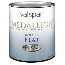 1 Quart White Medallion Interior 100% Acrylic Flat Wall Paint
