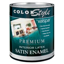<strong>Valspar</strong> 1 Quart White ColorStyle® Interior Latex Satin Enamel Wall Paint 4