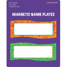 Magnetic Name Plates (Set of 20)