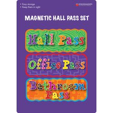 <strong>Dowling Magnets</strong> Magnetic Hall Pass (Set of 3)