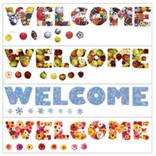 Seasonal Welcome Bulletin Board Set