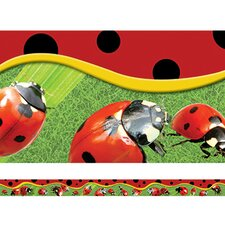 Ladybugs Layered Border
