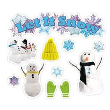 Let It Snow Mini Bulletin Board Set