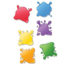 Paint Splotches Mini Accents (Set of 6)