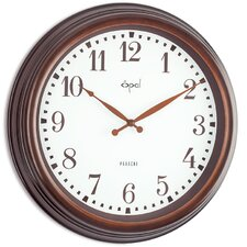 "<strong>Opal Luxury Time Products</strong> 15.44"" Arabic Numeral Wall Clock"