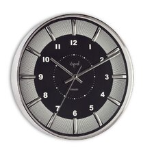 """12"""" Round Stainless Steel Case Wall Clock"""