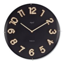 "13"" Edgeless Dome Glass Wall Clock"