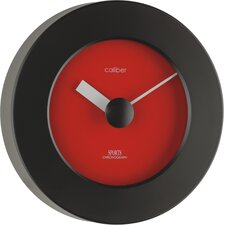 Caliber Sports Wall Clock in Red and Black