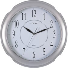 Caliber Ring Case Wall Clock in Silver
