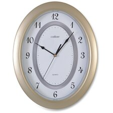 Caliber Oval Case Wall Clock in Brown