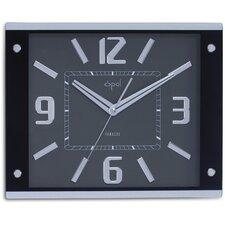Opal Bold Numbered Big Size Clock in Black