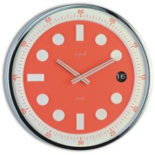 """12"""" Stainless Steel Round Case Wall Clock"""