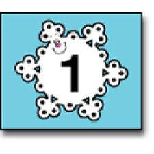 Calendar Cover-ups Snowflake 36/pk
