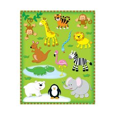Zoo Shape Stickers 78pk