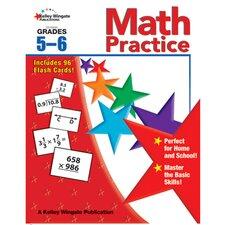 Math Practice Gr 5-6 W/flash Cards