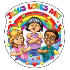 Jesus Loves Me 15x15 Accent