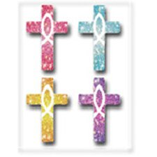 Dazzle Stickers Crosses 120/pk Acid