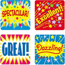 Stickers Positive Words 120/pk Acid