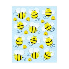 Bees Shape Stickers 72pk
