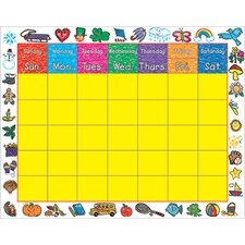 <strong>Frank Schaffer Publications/Carson Dellosa Publications</strong> Chart Calendar Kid-drawn Border