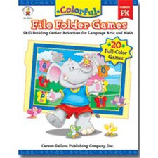 <strong>Frank Schaffer Publications/Carson Dellosa Publications</strong> Colorful File Folder Games Gr-pk