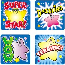 Stickers Stars 120/pk Acid & Lignin