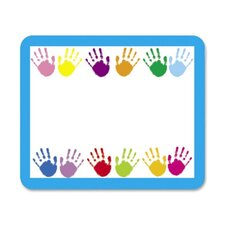 "Name Tags, Handprints, 3""x2-1/2"", 40 per Pack"