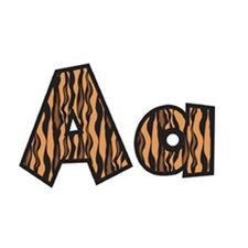 Fun Font Letters Tiger 4in