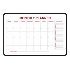 Monthly Dry Erase Planner 2' x 3' Whiteboard