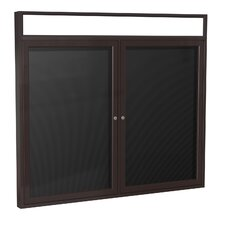2 Door Aluminum Frame Enclosed Flannel Letterboard