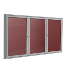 3 Door Aluminum Frame Enclosed Vinyl Letterboard