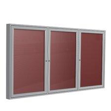 3 Door Aluminum Frame Enclosed Vinyl Letterboard