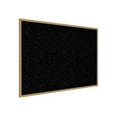 Wood Frame Recycled Rubber Tackboard