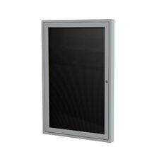 1 Door Aluminum Frame Enclosed Vinyl Letterboard