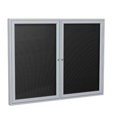 2 Door Aluminum Frame Enclosed Vinyl Letterboard