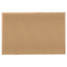 1400 Series Wood Frame Natural Cork Bulletin Board