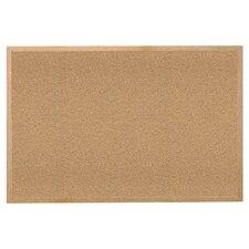 Wood Frame Natural Cork Bulletin Board