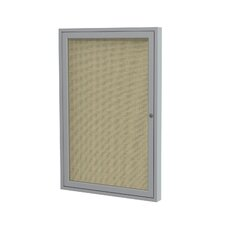 1 Door Aluminum Frame Enclosed Fabric Tackboard