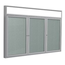 3 Door Aluminum Frame Enclosed Vinyl Tackboard