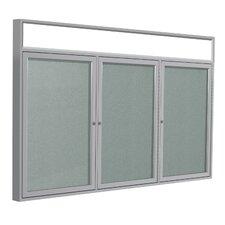 3 Door Enclosed Bulletin Board